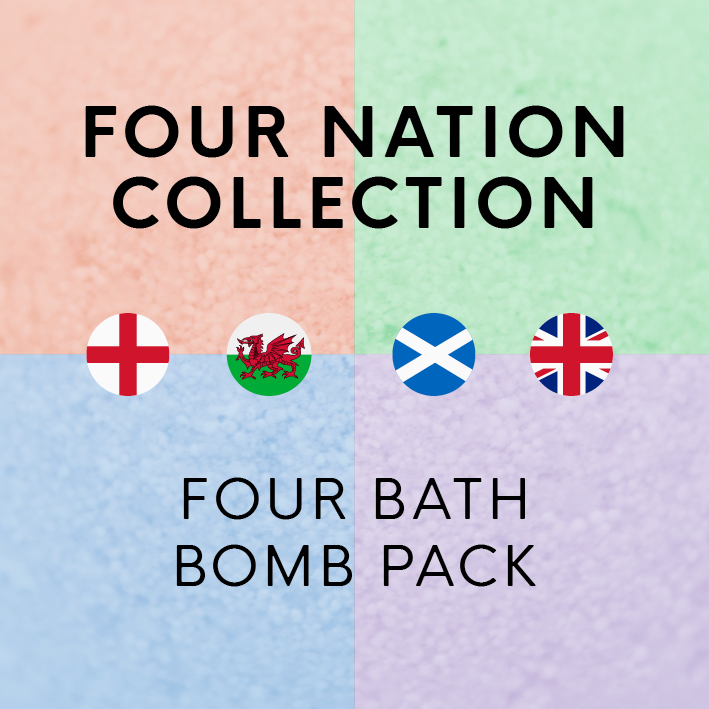 Four Nation Collection Bath Bombs 4 Pack