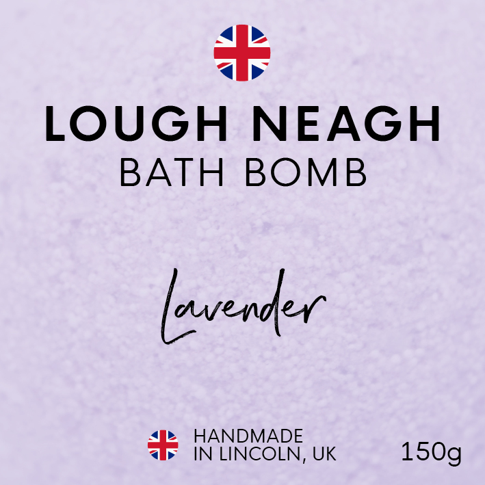 Lough Neagh Bath Bombs Handmade in Lincoln, UK. English Sea Salt Flakes Lavender Purple Violet