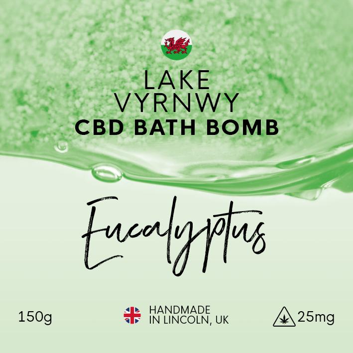Lake Vyrnwy Eucalyptus CBD Bath Bomb