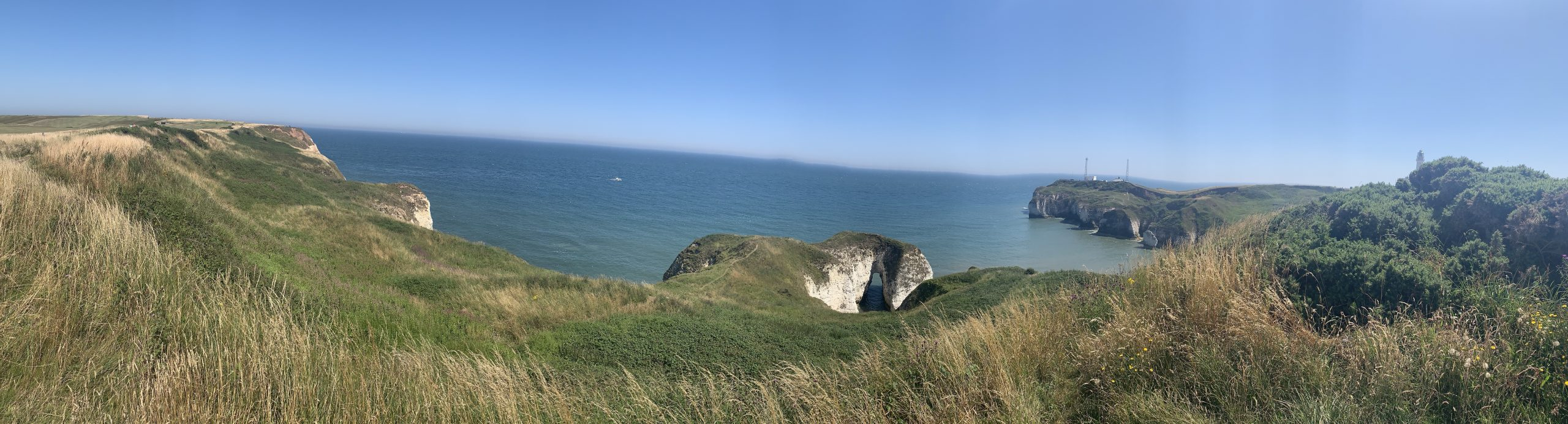 Flamborough head cliffs looking outing the sea